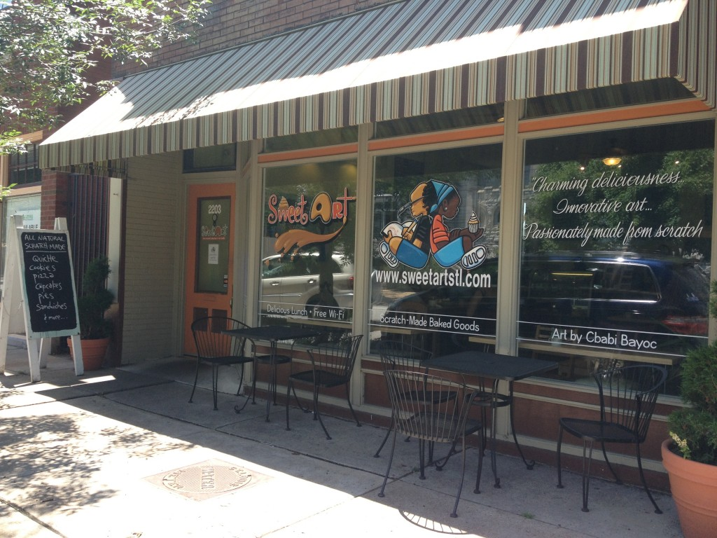 Image of cafe storefront